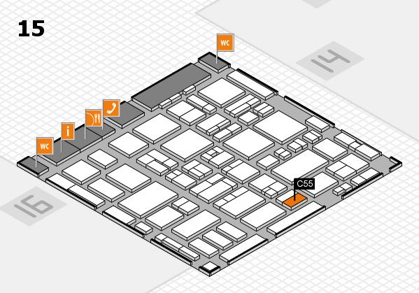 MEDICA 2016 hall map (Hall 15): stand C55