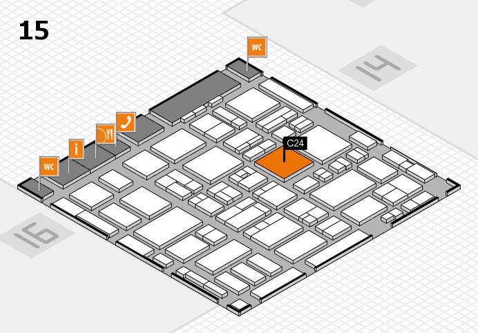 MEDICA 2016 hall map (Hall 15): stand C24