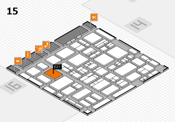 MEDICA 2016 Hallenplan (Halle 15): Stand E21