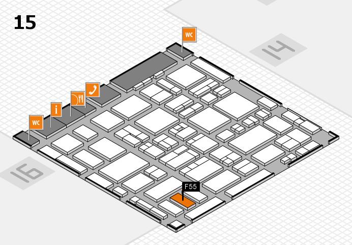 MEDICA 2016 hall map (Hall 15): stand F55