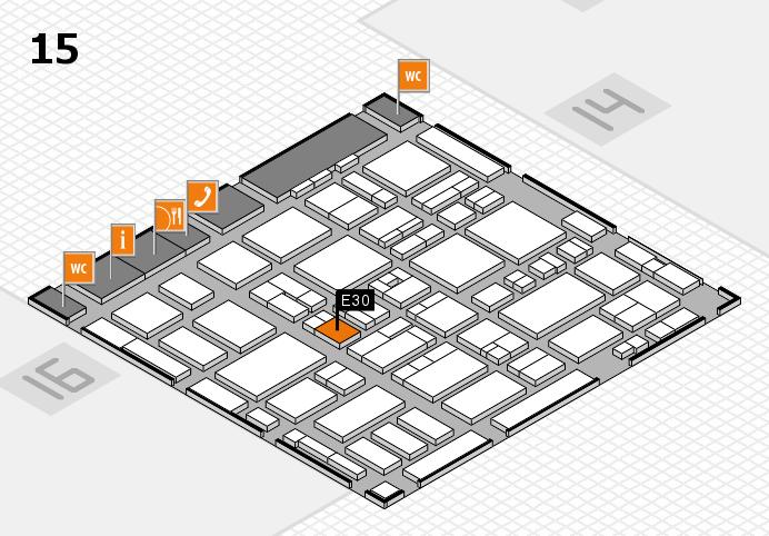 MEDICA 2016 hall map (Hall 15): stand E30