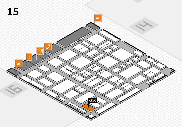 MEDICA 2016 hall map (Hall 15): stand G56