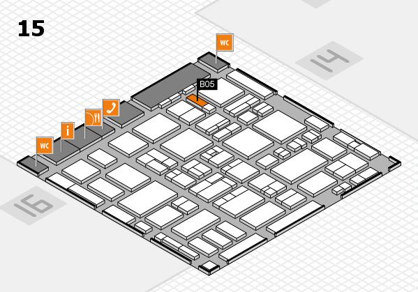 MEDICA 2016 hall map (Hall 15): stand B05
