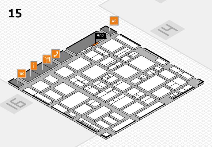 MEDICA 2016 hall map (Hall 15): stand B02