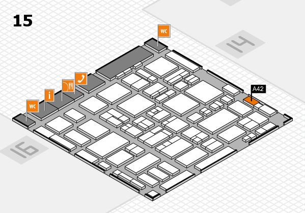 MEDICA 2016 hall map (Hall 15): stand A42