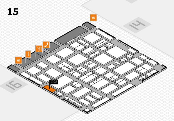 MEDICA 2016 hall map (Hall 15): stand G23