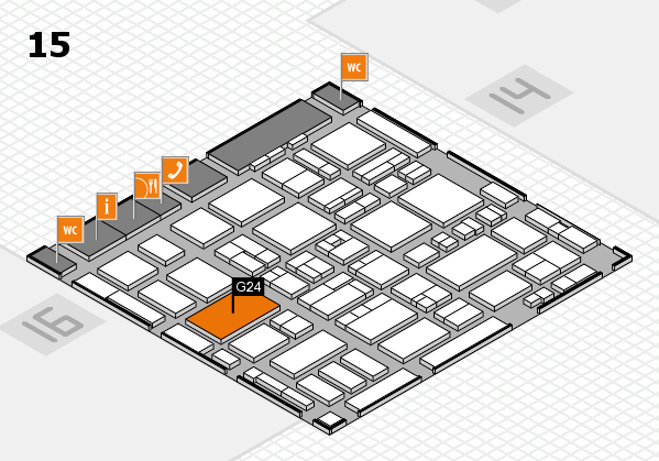 MEDICA 2016 Hallenplan (Halle 15): Stand G24