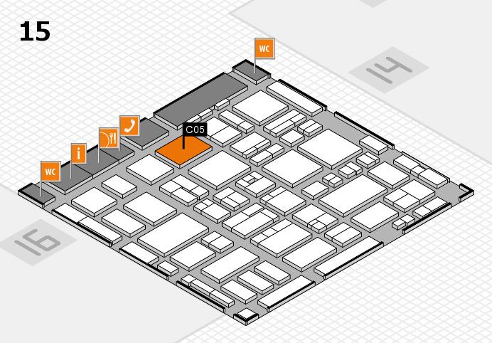 MEDICA 2016 hall map (Hall 15): stand C05