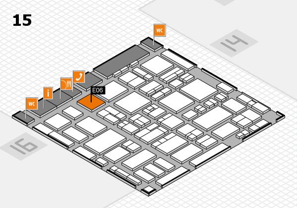 MEDICA 2016 hall map (Hall 15): stand E06