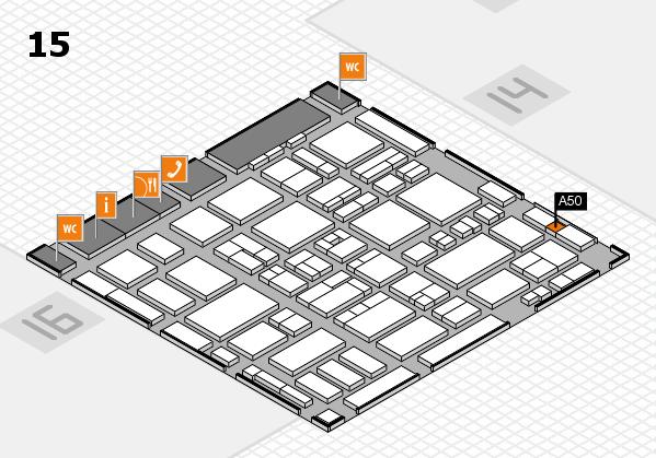 MEDICA 2016 hall map (Hall 15): stand A50