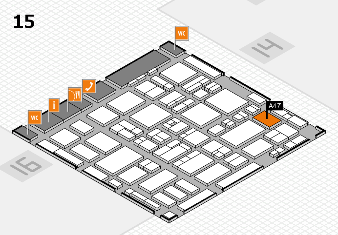 MEDICA 2016 hall map (Hall 15): stand A47