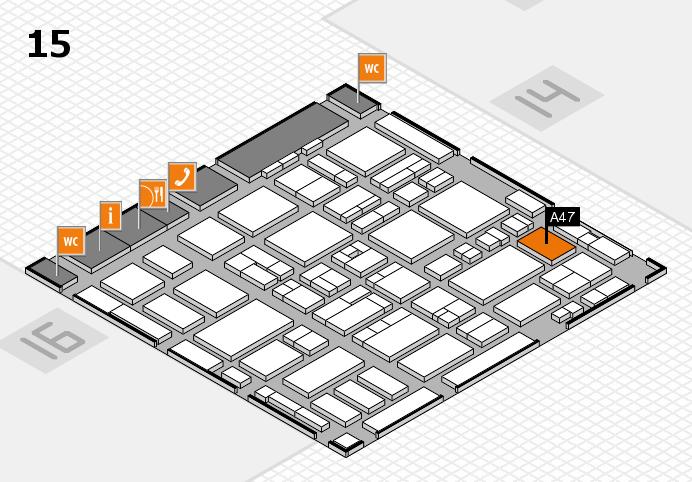 MEDICA 2016 hall map (Hall 15): stand A47