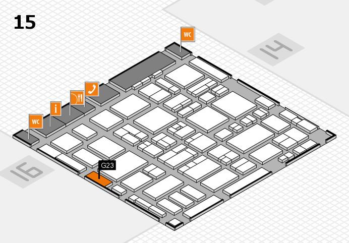 MEDICA 2016 Hallenplan (Halle 15): Stand G23