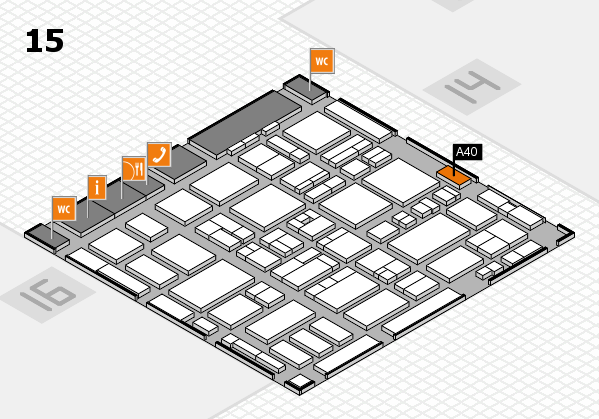 MEDICA 2016 hall map (Hall 15): stand A40