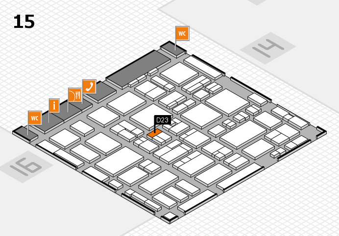 MEDICA 2016 hall map (Hall 15): stand D23