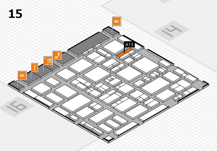 MEDICA 2016 hall map (Hall 15): stand A13