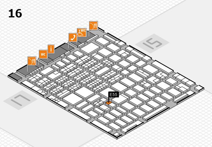 MEDICA 2016 hall map (Hall 16): stand E55