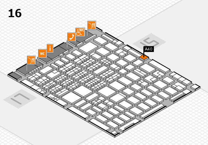 MEDICA 2016 hall map (Hall 16): stand A40