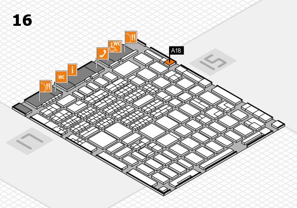 MEDICA 2016 hall map (Hall 16): stand A18