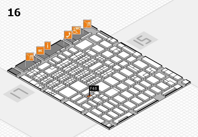 MEDICA 2016 hall map (Hall 16): stand F46