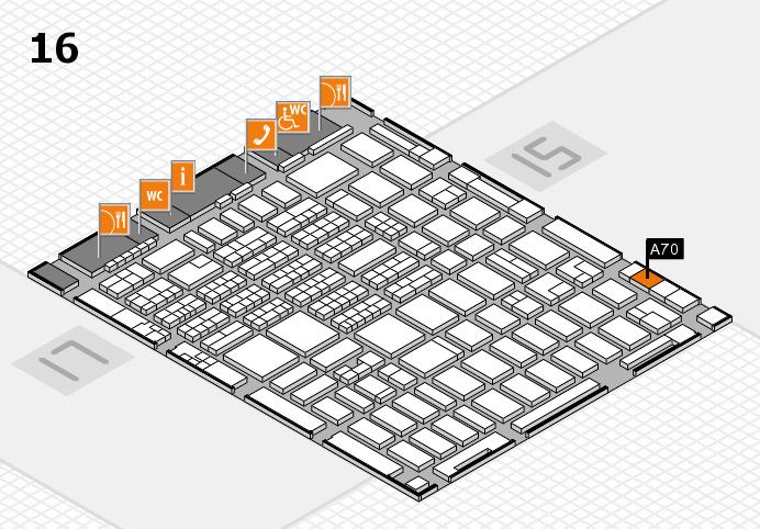 MEDICA 2016 hall map (Hall 16): stand A70