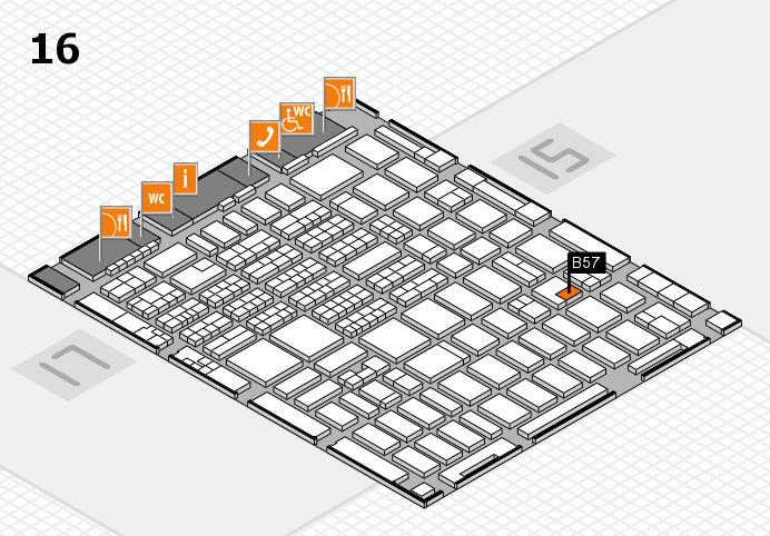 MEDICA 2016 hall map (Hall 16): stand B57