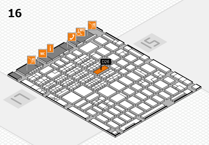 MEDICA 2016 hall map (Hall 16): stand D26
