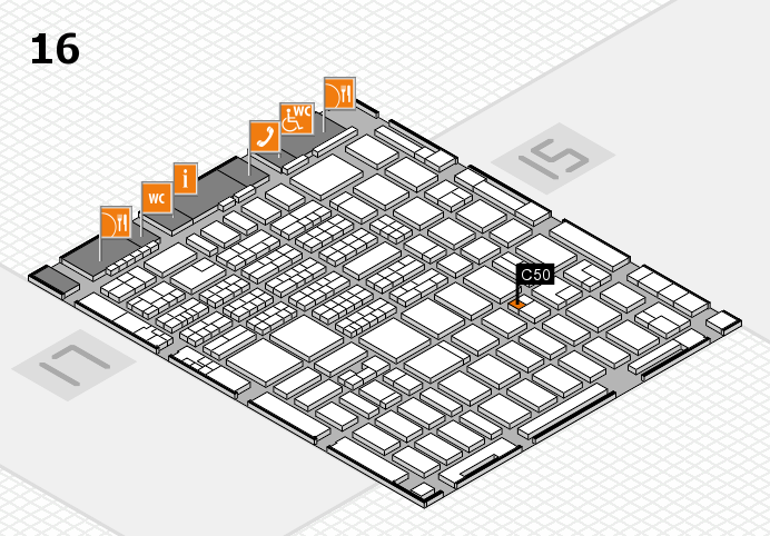 MEDICA 2016 hall map (Hall 16): stand C50