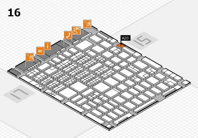 MEDICA 2016 hall map (Hall 16): stand A20