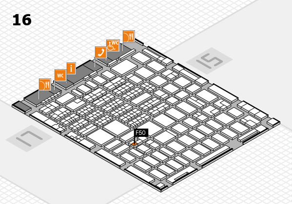 MEDICA 2016 hall map (Hall 16): stand F50