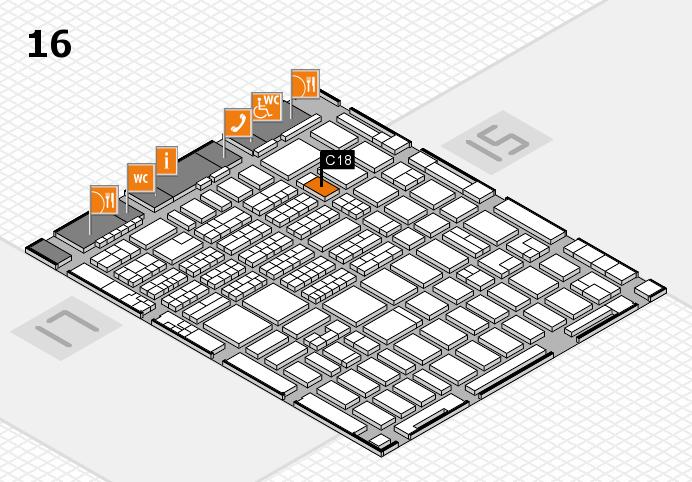 MEDICA 2016 hall map (Hall 16): stand C18