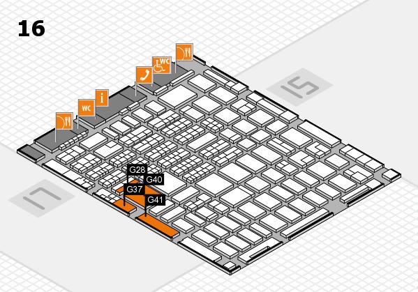 MEDICA 2016 hall map (Hall 16): stand G28, stand G41