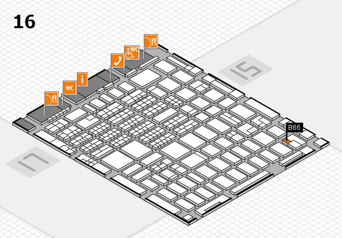MEDICA 2016 hall map (Hall 16): stand B66