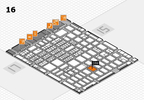 MEDICA 2016 hall map (Hall 16): stand D59