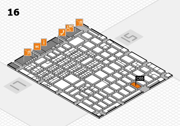 MEDICA 2016 hall map (Hall 16): stand C65