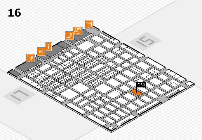 MEDICA 2016 hall map (Hall 16): stand D60