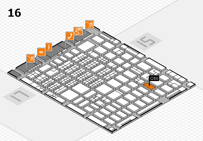 MEDICA 2016 hall map (Hall 16): stand C60