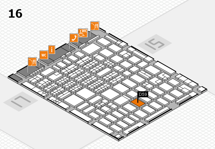 MEDICA 2016 hall map (Hall 16): stand D59