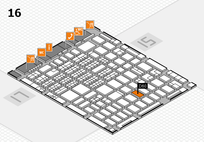 MEDICA 2016 hall map (Hall 16): stand D60