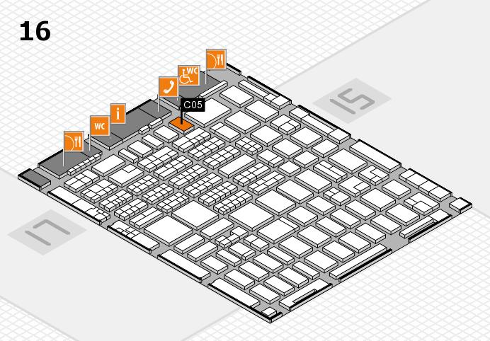 MEDICA 2016 hall map (Hall 16): stand C05
