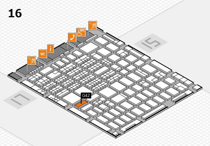 MEDICA 2016 hall map (Hall 16): stand G42