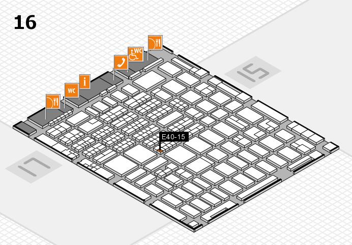 MEDICA 2016 hall map (Hall 16): stand E40-15