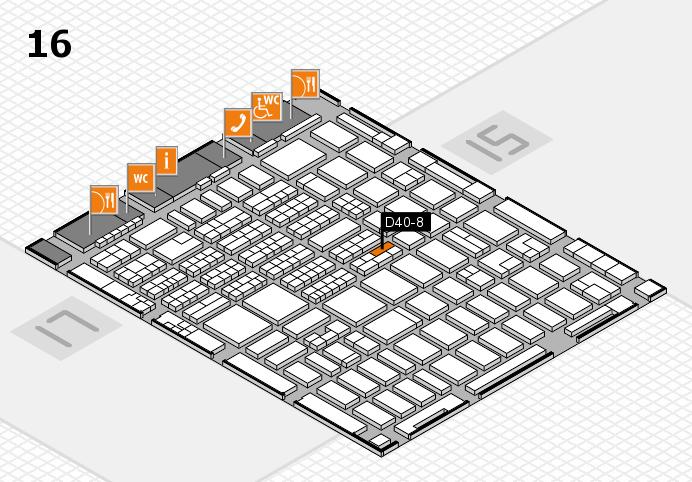 MEDICA 2016 hall map (Hall 16): stand D40-8