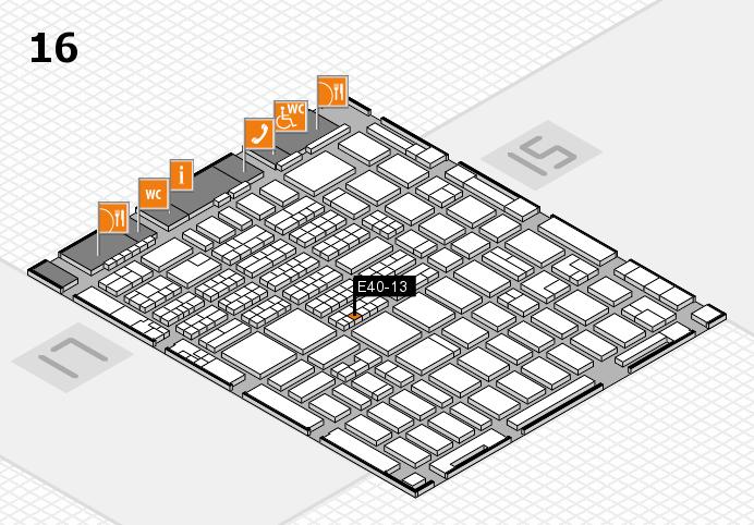 MEDICA 2016 hall map (Hall 16): stand E40-13