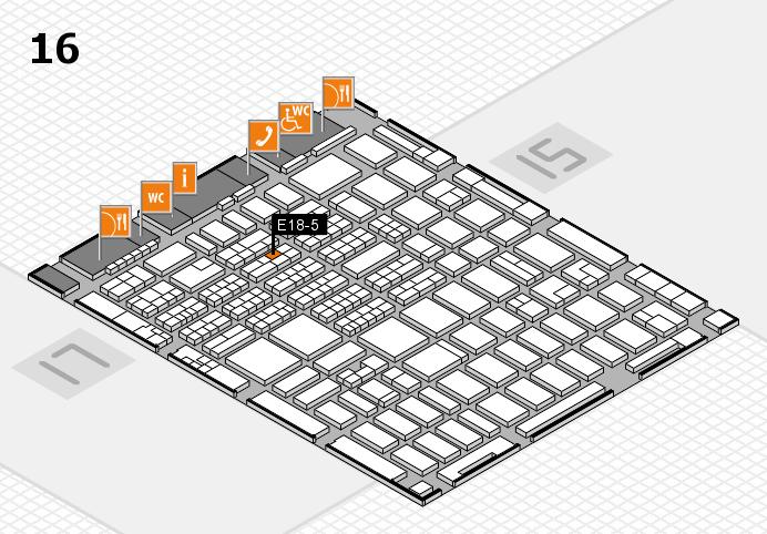 MEDICA 2016 hall map (Hall 16): stand E18-5