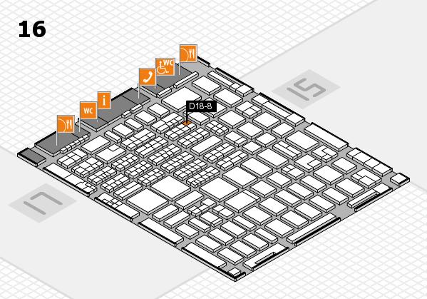MEDICA 2016 hall map (Hall 16): stand D18-8