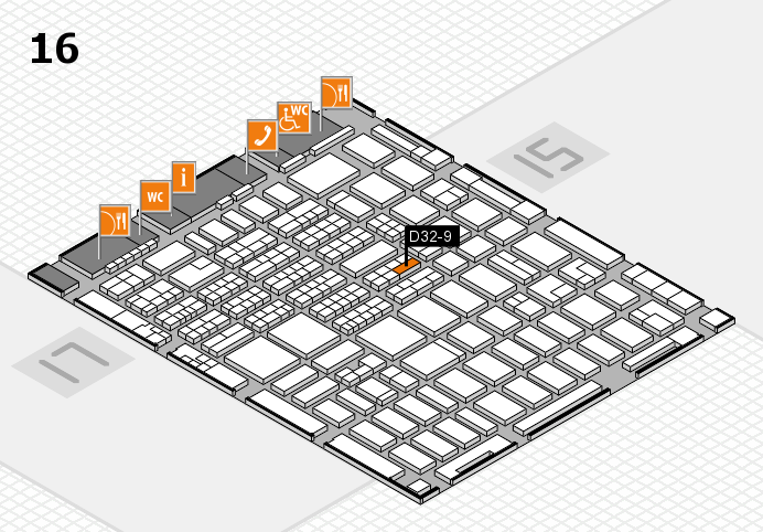 MEDICA 2016 hall map (Hall 16): stand D32-9