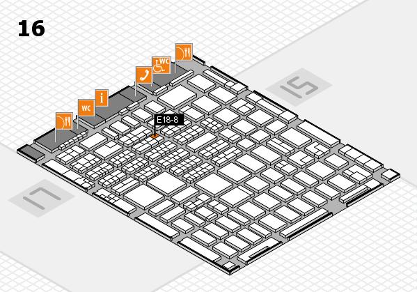 MEDICA 2016 hall map (Hall 16): stand E18-8