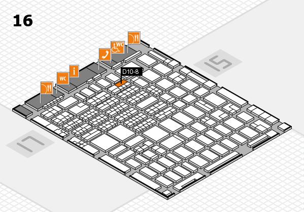 MEDICA 2016 hall map (Hall 16): stand D10-8