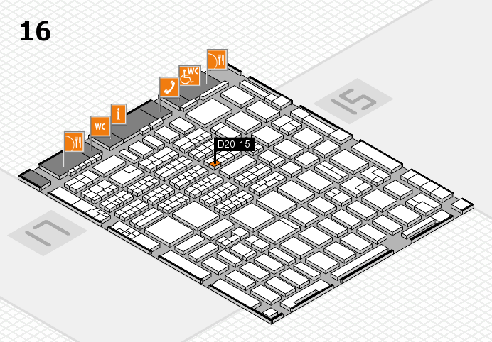 MEDICA 2016 hall map (Hall 16): stand D20-15